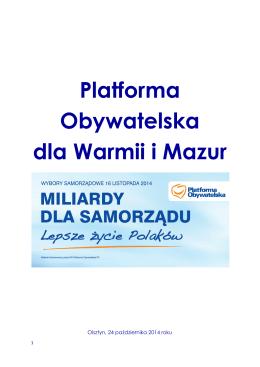 Platforma Obywatelska dla Warmii i Mazur