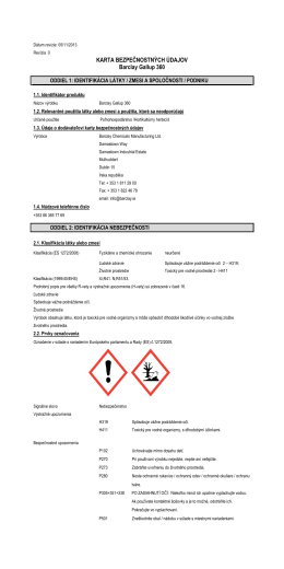 Gallup® 360 MSDS - Barclay Chemicals