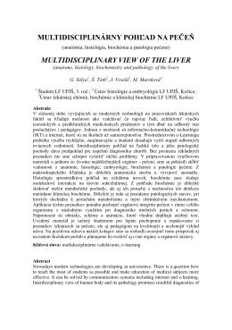 multidisciplinárny pohľad na pečeň multidisciplinary view