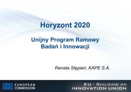 Horyzont 2020 - Program Ramowy na rzecz Konkurencyjności i
