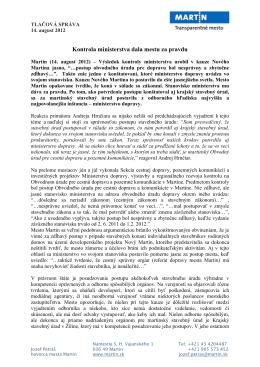 TS kontrola ministerstva dala mestu za pravdu (pdf