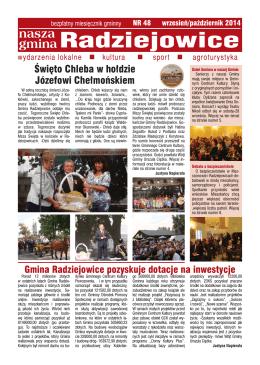 bezpłatny miesięcznik gminny NR 48 WRZESIEŃ/2014