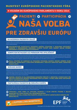 Manifest Európskeho pacientskeho fóra
