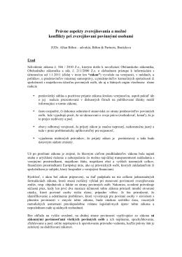 Právne aspekty zverejňovania a možné konflikty pri
