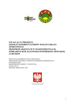 ewaluacja projektu szkoleń koordynatorów wolontariatu sportowego