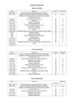 Ramowy rozkład dnia - Przedszkole28.com.pl