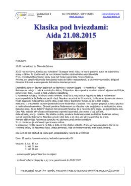 klasika pod hviezdami: aida 21.08.2015 - A