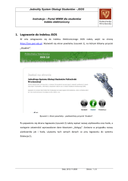 1. Logowanie do Indeksu JSOS