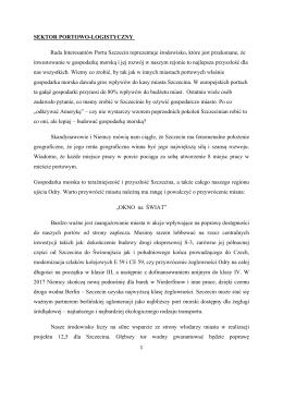 SEKTOR PORTOWO-LOGISTYCZNY Rada Interesantów Portu