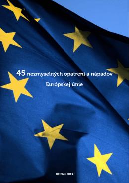 45nezmyselných opatrení a nápadov Európskej únie