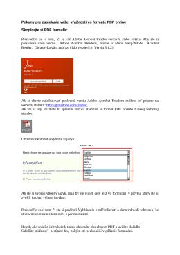 Pokyny pre zasielanie vašej sťažnosti vo formáte PDF online