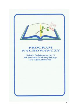 Program Wychowawczy SP3 im. Kornela Makuszyńskiego we