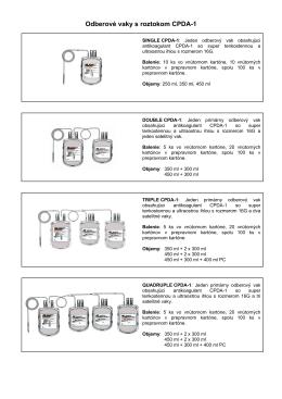 Odberov vaky s roztokom CPDA-1