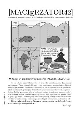 Kacik TeXowy - Koło Naukowe Matematyków UŚ