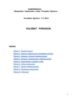 Volebný poriadok ObFZ 2014