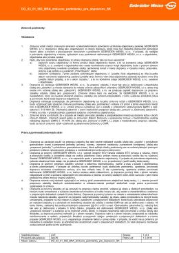 Zmluvné podmienky pre dopravcov