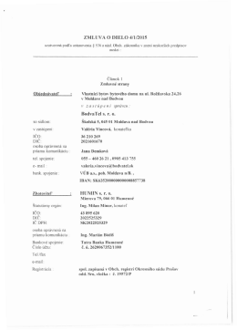 Zmluva o dielo 4/1/2015 (Hydraulické vyregulovanie rozvodov teplej
