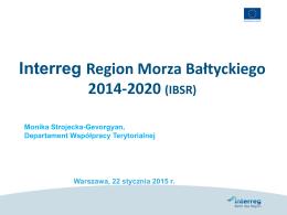 Interreg Region Morza Bałtyckiego 2014