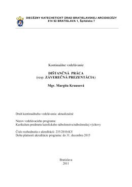 Záverečná práca.pdf - Diecézny katechetický úrad Bratislavskej