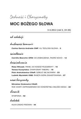 MOC BOŻEGO SŁOWA - Ruch Focolari w Polsce