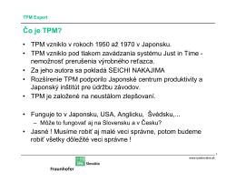 Čo je TPM? - IPA Slovakia