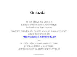 Interfejs gniazd - Politechnika Rzeszowska