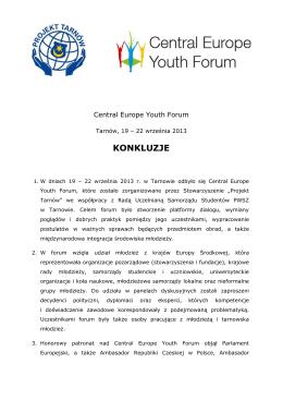 konkluzje ceyf - Projekt Tarnów