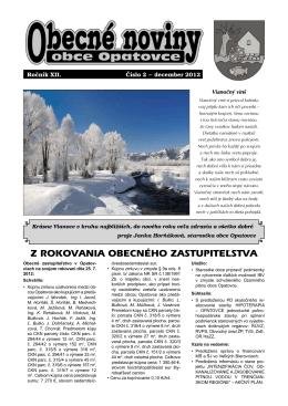 Obecné noviny - december 2012