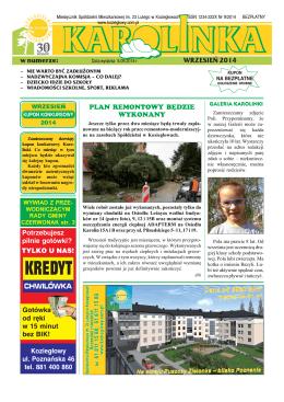 Wrzesień 2014 - Spółdzielnia Mieszkaniowa im. 23 Lutego