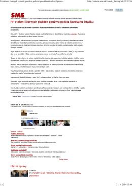 Spravodajstvo | zahorie.sme.sk