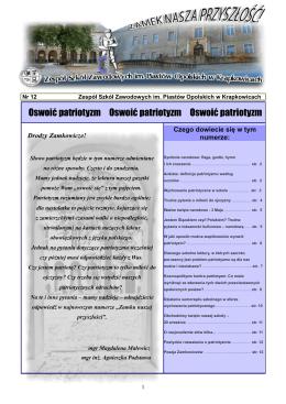 Oswoić patrotyzm [PDF 1,37MB] - Zespół Szkół Zawodowych im