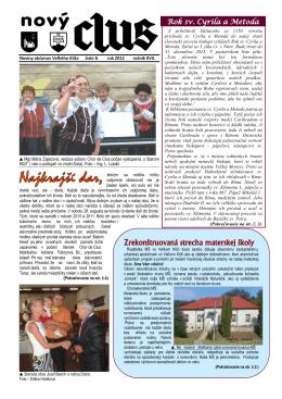Obecné noviny č.8 - 2012
