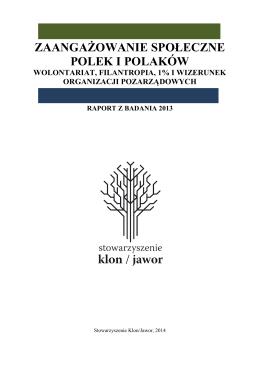 Zaangażowanie społeczne Polek i Polaków
