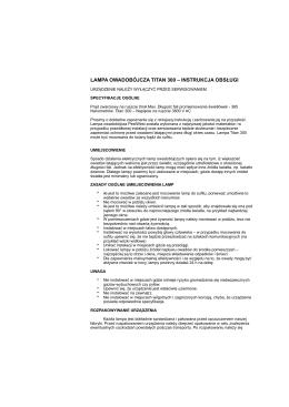 Lampa TITAN 300 instrukcja obsługi.pages