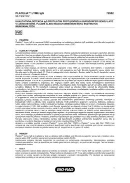 PLATELIA™ LYME IgG 72952 96 TESTOV - Bio-Rad