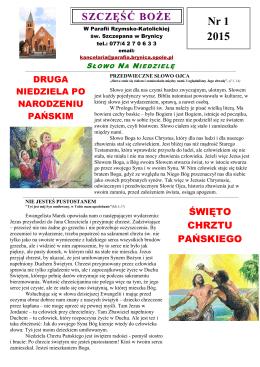 Nr 1 2015 - Parafia św Szczepana Brynica