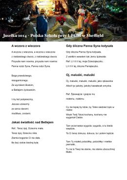 Jasełka 2014 - Polska Szkoła przy LPCM w Sheffield
