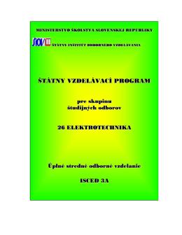 štátny vzdelávací program - Štátny inštitút odborného vzdelávania