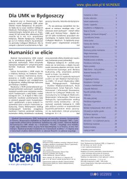Pełna wersja PDF - Głos Uczelni - Uniwersytet Mikołaja Kopernika