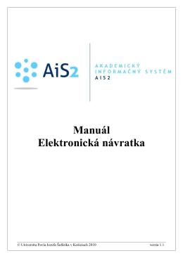 Manuál Elektronická návratka - AiS2