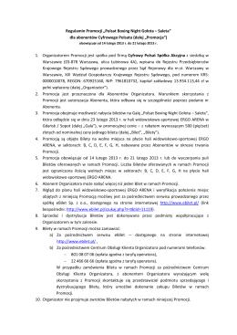 "Regulamin Promocji ""Polsat Boxing Night Gołota – Saleta"