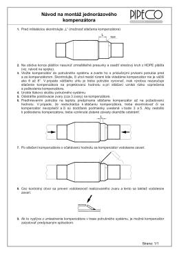 Návod na montáž jednorázového kompenzátora