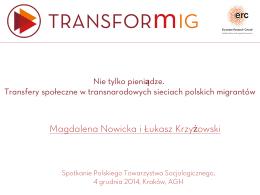 Magdalena Nowicka i Łukasz Krzyżowski - TRANSFORmIG