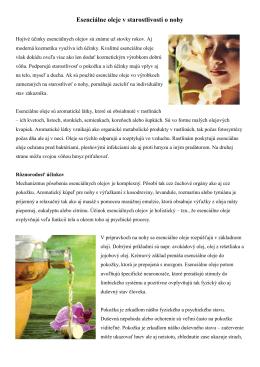 Esenciálne oleje v starostlivosti o nohy
