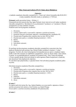 Zápisnica z riadneho zasadnutia OcÚ zo dňa 08.04.2011