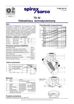 Odwadniacz termodynamiczny TD42