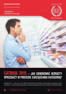 CATMAN 2015 – jak generować wzrosty sprzedaży w procesie