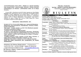 Biuletyn parafialny 08.03.2015 - Polska Parafia Katolicka w Bradford