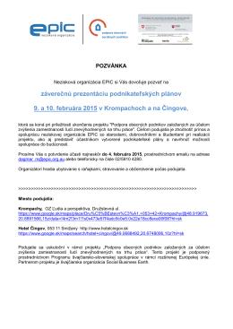 pozvánka - Program švajčiarsko