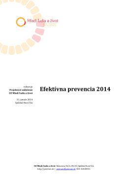 EFEKTÍVNA PREVENCIA 2014